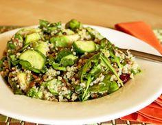 Green Brown Lentil Quinoa Salad