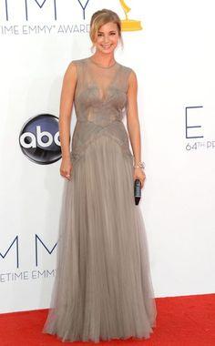Emmy Awards, Emily Van Camp- J. Mendel. Love the dress, just not the best color on her