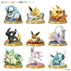 Eevee Collection Picture from Pokemon. Memes Do Pokemon, Gif Pokemon, Pokemon Eevee Evolutions, Pokemon Craft, Cool Pokemon, Cute Animal Drawings, Cute Drawings, Pokemon Original, Equipe Pokemon