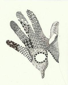 Zentangle Hands When i first found zentangles