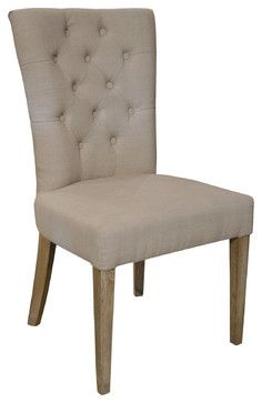 Faubourg French Country Tufted Dining Chair - dining chairs and benches - Kathy Kuo Home