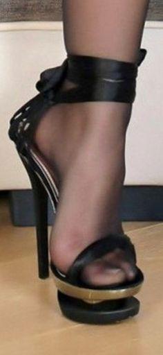 Skechers Go Walk 3 Womens Shoes Platform High Heels, Black High Heels, High Heel Boots, Pantyhose Heels, Stockings Heels, Stockings Lingerie, Sexy Heels, Stiletto Heels, Stilettos