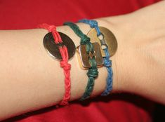 diy button bracelets @ i spy diy