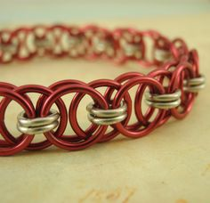 2 TONED Helm Weave Chainmaille Bracelet Kit - with Matching 2 TONED Clasp - Your Pick of 1 or 2 Colors
