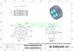 Mechanical Engineering Design, Mechanical Design, Autocad Isometric Drawing, Cad 3d, Killer Ab Workouts, 3d Printing Diy, How To Make Drawing, Cad Drawing, Drawing Practice