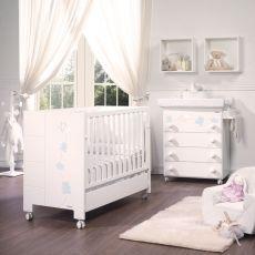 habitacin de beb micuna alexa blanco plata cuna cama y cmoda maxi