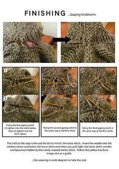 learn to finish knits.