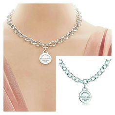 """""""Return to Tiffany & Co."""" Circle Tag Necklace -----100 % Authentic----- 18.75"""" long. Perfect length.  Used gently, excellent condition.   Comes with Tiffany & Co. Pouch. I WILL NOT NEGOTIATE THROUGH COMMENTS PLEASE USE THE OFFER FEATURE - THANKS! NO TRADES Tiffany & Co. Jewelry Necklaces"""