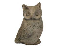 by White x White  Terracotta Owl Statue
