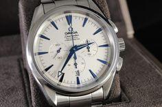 Omega Seamaster Aqua Terra Automatic Chronometer Chronograph, White Dial #Omega #Luxury