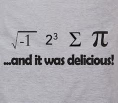 I ate some pie and it was delicious - eight sum Pi math nerdy humor. Math Puns, Math Memes, Science Memes, Math Humor, Pi Math, Calculus Jokes, Funny Math Jokes, Math Hacks, Math Quotes