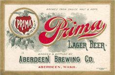 Prima Lager Beer label - image
