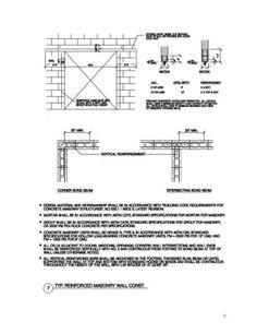 Reinforced Masonry Wall Construction