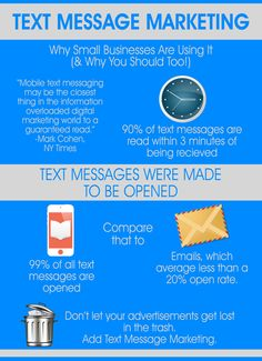 Mobile text message may be the closest thing in the information overloaded digital world to a guaranteed read.