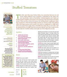Stuffed Tomatoes / Rocco DeSpirito