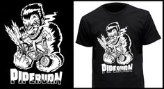 PipeburnT-Shirt - Pipeburn - Purveyors of Classic Motorcycles, Cafe Racers & Custom motorbikes