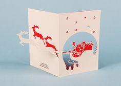 Christmas cards on Behance