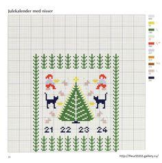 ru / Фото - Ingrid Plum - Korssting til Jul og Advent - 2005 - Swedish Christmas, Christmas Cross, Christmas Embroidery, Cross Stitching, Needlepoint, Advent, Needlework, Embroidery Designs, Kids Rugs