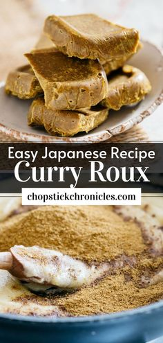 """#Japanese curry roux Homemade Japanese curry roux recipe from scratch. Just like """"Golden Curry"""" roux used to make Japanese curry rice. Step by step photos    instructional video. #Japanese #recipe #homemadejapanese #homemade #howtomakejapanese #diyjapanese #curryrouxrecipe #curryroux #curryrouxjapanese Chicken Katsu Curry, Beef Curry, Japanese Street Food, Japanese Food, Easy Japanese Recipes, Asian Recipes, Curry Roux Recipe, Curry Bread, Golden Curry"""