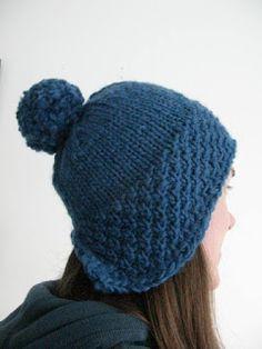 Wednesday, 3 April 2013 Lomond Hat Free knitting pattern by littletheorem. Chunky moss stitch bobble hat.