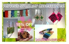 Perfect Summer Accessories! -- HanjiNaty on Sale! by hanjinaty on Polyvore featuring spsteam, cij and etsycij15