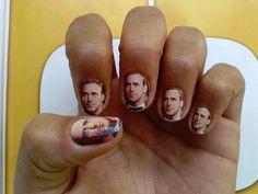 Ryan Gosling Nail Art Decals por NailSpin en Etsy, $5.00