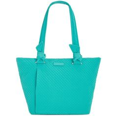Vera Bradley Hadley East West Small Tote ($108) ❤ liked on Polyvore featuring bags, handbags, tote bags, turquoise sea, blue tote bag, blue tote handbags, vera bradley tote bags, turquoise handbags and tote handbags