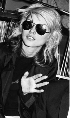 Debbie Harry of Blondie looking fucking hot for my tender teenage camera in 1977!  Photo by Brad Elterman