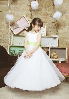 Robe ceremonie Louise en tulle pour mariages et cortèges - Les petits Inclassables