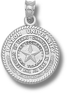 Baylor Bears Seal Pendant - Sterling Silver Jewelry