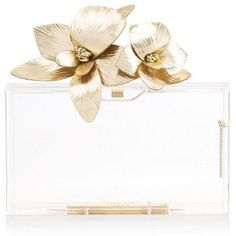 ORCHID PANDORA (14.536.120 IDR) ❤ liked on Polyvore featuring bags, handbags, clutches, hand bags, lucite purse, white clutches, white purse and white hand bags