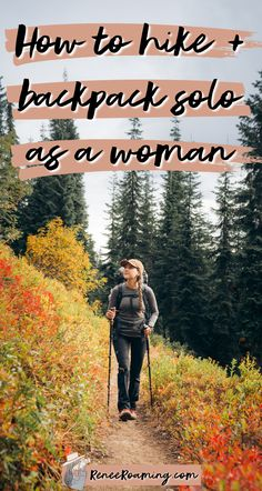 Do you love hiking and backpacking but are nervous about taking solo trips? I put together a guide on how to hike and backpack solo as a woman, including talking about my own experience first time solo backpacking! | solo backpacking as a woman | female hiker | backpacking tips for women | hiking tips for women | hiking girl inspiration | fall backpacking washington | fall hiking washington | Backpacking Tips, Hiking Tips, Road Trip Organization, Hiking Essentials, Hiking Photography, Outdoor Fun, Outdoor Travel, Girl Inspiration, Travel Couple