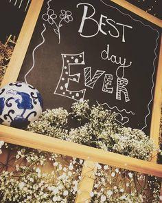 Barn wedding signage. Best Day Ever.