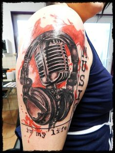 Trash Art Music Tattoo by TattooBodo on DeviantArt Tattoo Trash, Trash Polka Tattoo, Note Tattoo, Arm Tattoo, Tatuagem Trash Polka, Polka Music, Trash Art, Dope Art, Deviantart