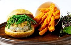 Squid and mackerel burger with sweet potato chips:  one problem; what can be substituted for samphire
