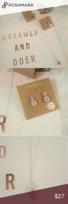 NWT*Fuego Necklace & Earring Set* Pineapple* NWT* Fuego Necklace & Earring Set* Pineapple Delight* Fuego Accessories