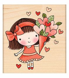 "Penny Black Rubber Stamp 3""X3.25""-Sweetheart Mimi"