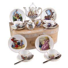 Alice in Wonderland Tea Set with Case - Medium