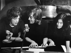 Mick Jagger, John Lennon and Yoko Ono, Bob Gruen