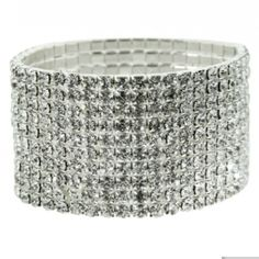 Swarovski Crystal Elements Bracelet : 10 Rows This beautiful bracelet boasts 10 sparkling rows of Swarovski Austrian crystals. Stretches to fit all. The perfect eye catching compliment to any outfit! Jewelry Bracelets