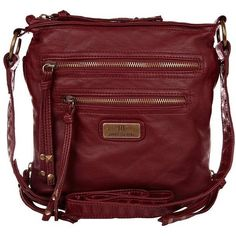 River Island Red Mini Cross Body Messenger Bag ($32)  liked on Polyvore polyvore