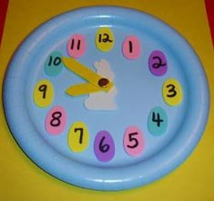 Easter Paper Plate Analog Clock Craft Activity