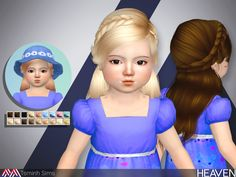 FOR TODDLER  Found in TSR Category 'Sims 4 Female Hairstyles'