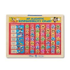 Mickey Mouse Clubhouse My Magnetic Responsibility Chart By Melissa Doug Multicolor