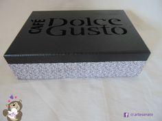 Caixa Dolce Gusto Preto #dolcegusto #cafe #elixirdavida #cafeexpresso #artesanato