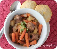 Easy Crock Pot Beef Stew, via Yummy- Healthy- Easy