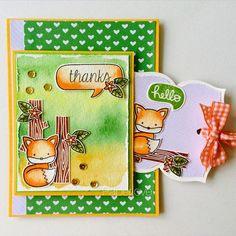 Having lots of fun with this cute fox from lawn fawn into the woods. | Flickr - Photo Sharing!