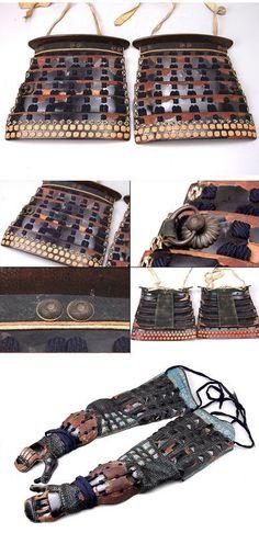 Momoyama Period Samurai Yoroi Gusoku Kabuto Armor Suit (item #804715, detailed views)