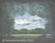 https://flic.kr/p/Wjr4Fd | Doorkijkje in de bossen bij Oosterhout / View in the woodlands near Oosterhout | Watercolour (Cotman series by Winsor&Newton) and Designer's Gouache (zinc white) by Winsor&Newton on 'all black' heavy paper.  My own reference.  Framed 50 x 60 cm; € 115,-  Meer informatie vindt u op / More information can be found at www.jannekesatelier.webs.com