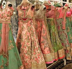 Anushree reddy brides # hand crafted floral lehenga # Indian fashion